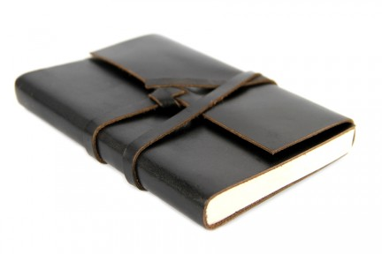 Carnet voyage cuir noir