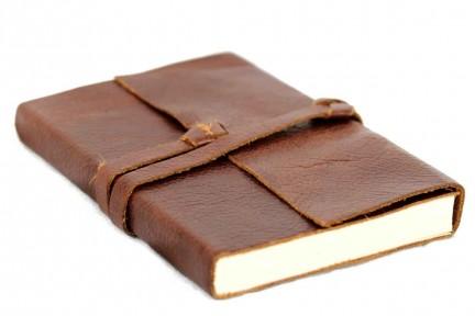 Carnet voyage cuir marron brun