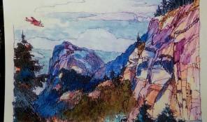 aquarelliste et peintre voyageur